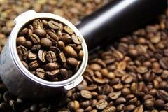 Espresso handle Stock Photography