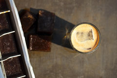 Espresso with ice cubes coffee Stock Photography