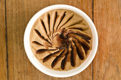 Espresso Italian ice cream tub Stock Photos