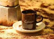 Espresso-Kaffee Lizenzfreie Stockfotografie