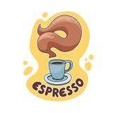 Espresso-Kaffee-Illustration Stockfotos