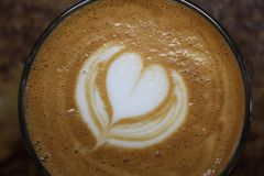 Espresso latte art Stock Image