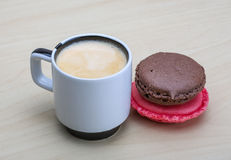 Espresso with macaroons Royalty Free Stock Photography