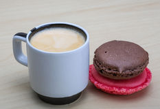 Espresso with macaroons Royalty Free Stock Image