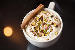 Espresso macchiato with spices Royalty Free Stock Photo