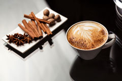 Espresso macchiato with spices Stock Photo