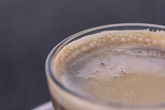 Espresso machiato - milk coffee macro Royalty Free Stock Images