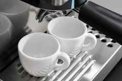 Espresso machine brewing Stock Photography