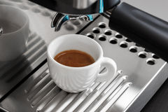 Espresso machine brewing Royalty Free Stock Images