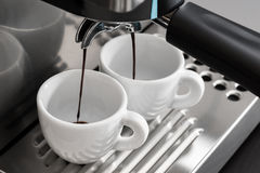 Espresso machine brewing Royalty Free Stock Image