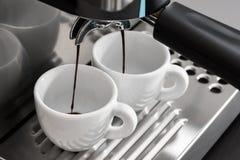 Espresso machine brewing Royalty Free Stock Image