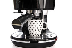 Espresso machine and cup of coffee Stock Images