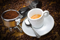 Espresso machine group Stock Images