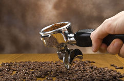 Espresso machine group head Stock Photos