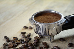 An espresso machine grouphead Royalty Free Stock Photos