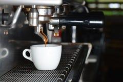 Espresso machine, making coffee Royalty Free Stock Photo