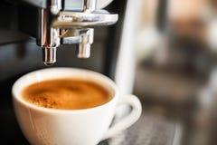 Making coffee. Espresso machine making fresh coffee stock photos