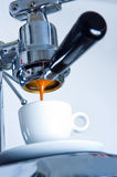 Espresso machine. Mecanical espresso machine without outfall Stock Photo