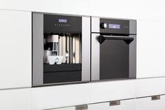Espresso machine and steam oven Stock Image