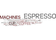 Espresso Machines Overview Text Background  Word Cloud Concept Stock Image