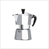 Espresso maker. Extremely detailed vector illustration of a coffee maker Stock Images