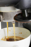 Espresso making Stock Photography