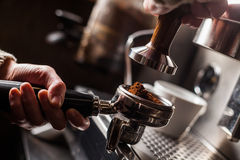 Espresso making machine Royalty Free Stock Images