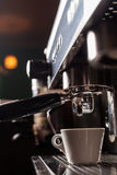 Espresso making machine Royalty Free Stock Photo