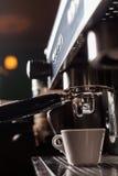 Espresso making machine Royalty Free Stock Photo