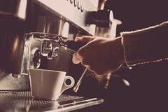 Espresso making machine Stock Photography