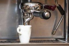Espresso making machine stock photos