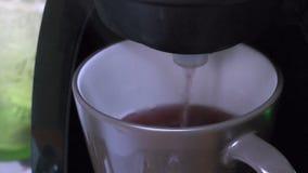 An espresso making tea stock footage