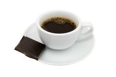 Espresso mit Schokolade Stockbild