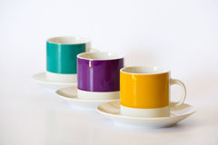 Espresso mugs Royalty Free Stock Images