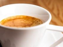 Espresso-Nahaufnahme Lizenzfreie Stockfotos