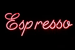 Espresso neon sign Royalty Free Stock Images