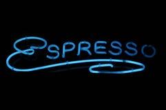 Espresso-Neonzeichen Stockbild