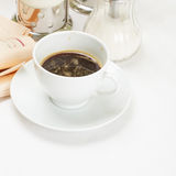 Espresso and newspaper Royalty Free Stock Photos