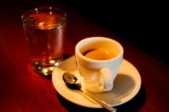 Espresso. ontspan Stock Foto