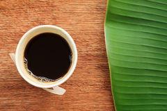 Espresso in paper cup Royalty Free Stock Photos