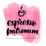 Espresso patronum lizenzfreie abbildung