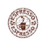 Espresso rubber stamp Stock Photo