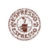 Espresso Rubber Stamp Stock Photo