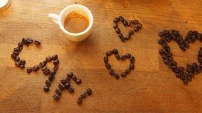 Espresso-Schalen-Liebe Lizenzfreie Stockfotos
