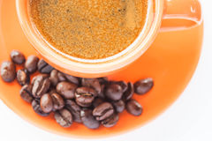 Espresso shot and coffee bean Stock Photo