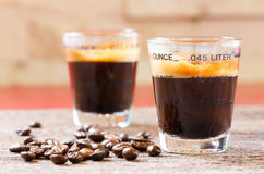 Free Espresso Shot Glass With Coffee Bean Royalty Free Stock Photo - 66213165