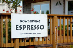 Espresso sign 6. Espresso sign at a cafe Stock Image
