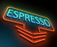 Espresso sign concept. Royalty Free Stock Photography