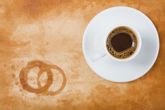 Espresso and Stained background Royalty Free Stock Photography