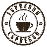 Espresso stamp Stock Photo